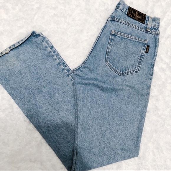 f233762dd67 Fendi Denim - Vintage Fendi High Waist Roma Amor Light Wash Jean
